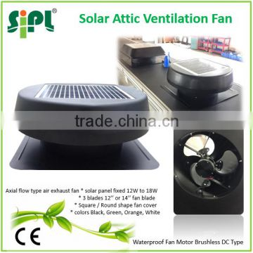 China newest green product DC brushless motor solar extractor fan solar energy ceilling roof fan