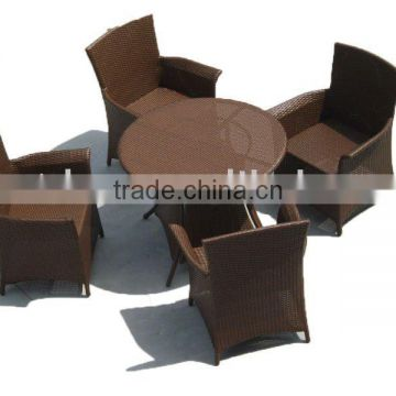 outdoor rattan chair and table or wicker dining set