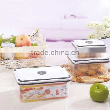New 3pcs plastic heat food preservation/preservation lunch box