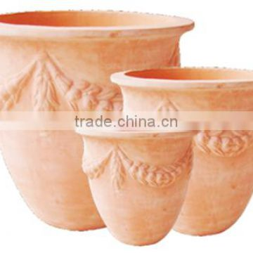 Coconut leave Clay terracotta pots with the beautiful style for your dreaming garden