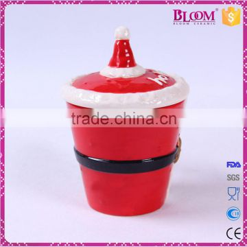 Wholesale cheap christmas gift ceramic mug with lid