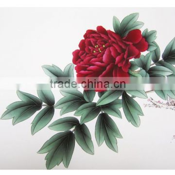 Top 9 Queen of Flowers series vivid 100% handmade peony flower painting