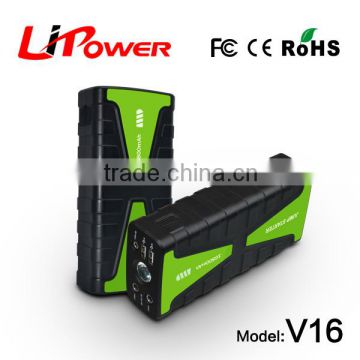 Batteries Power Supply multi function portable mini jump starter with 12 volt DC Air Compressor
