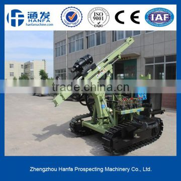HF130Y crawler drilling rig, work with air compressor