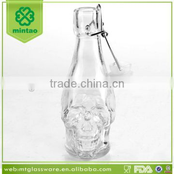 skull oil and vinegar bottles decorative/olive oil bottle with pp nozzle or metal