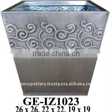 AAJ Galvanized zinc vase,Galvanized zinc watering can , Zinc Pot Planter, zinc planter for gardening and household