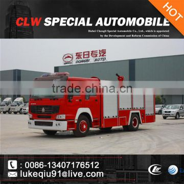 266hp HOWO red fire truck fire fighting truck