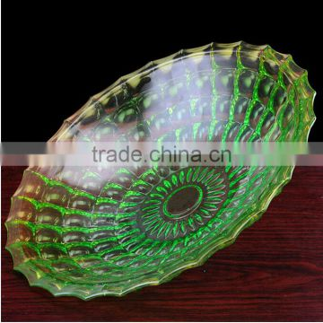 attractive and durable crystal fruit plate
