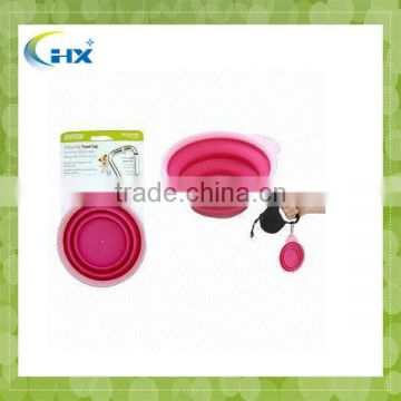 MA-393 2013 Hot Sell Eco-Friendly Silicone Collapsible Pet Bowl
