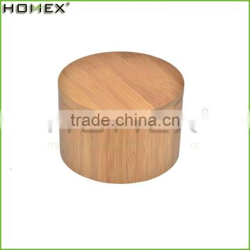 Hot Selling Single Lid Seasoning Salt Spice Round Bamboo Storage Box/Homex_Factory