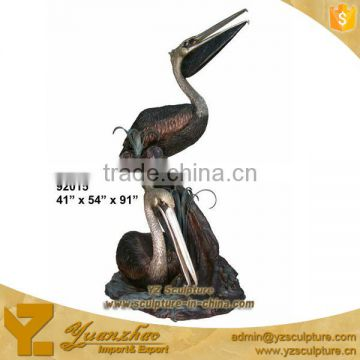 casting bronze beautiful garden birds statues for sale