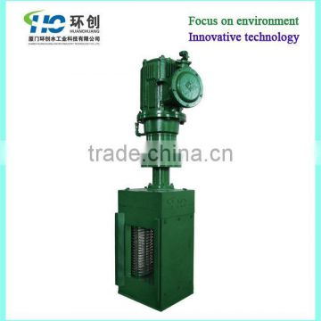 Channel type non drum wastewater grinders protect screw pump