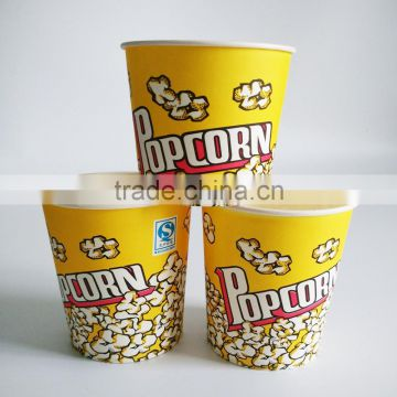 Wholesale disposable paper popcorn buckets