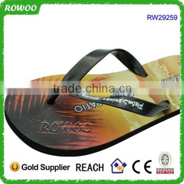 Wholesale Entire Black EVA Sublimation/Heat Transfer Printing Flip Flops