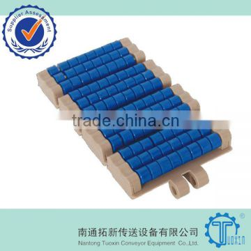 LBP821 Straight Run Double Hinge Plastic Roller Conveyor Chain