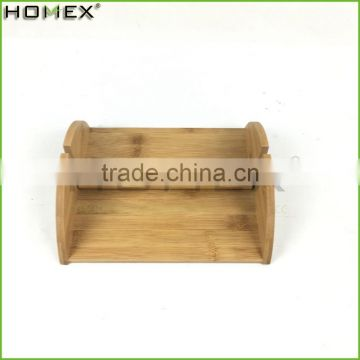 Bamboo Napkin Holder Rectangle Tabletop Napkin Holder Homex BSCI/Factory