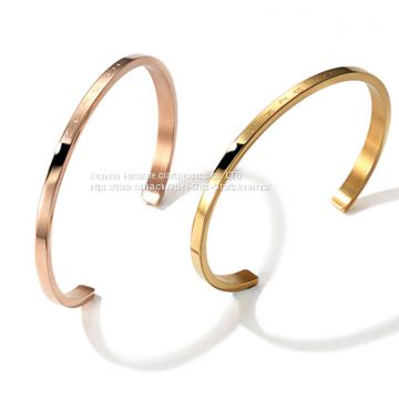 Titanium steel bracelet rose gold star and fashion hand ring selling jewelry custom light face LOGO customization
