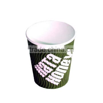 12oz hot drink disposable ripple wall custom disposable coffee cups
