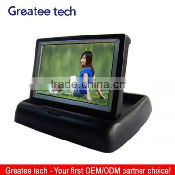 factory best Foldable 4.3 inch rearview Car LCD Monitor