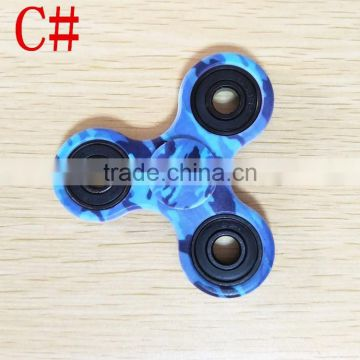Promotional Stock Camo Color Tri-spinner Fidget Toy Finger Fidget Spinner Of Hand Fidget Spinner