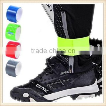 2 PC Reflective Arm Leg Bands 4 Led Lights Strap Bike Running Run Safety Cycling