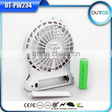 China Products Portable Led Usb Fan Power Bank with Flashlight