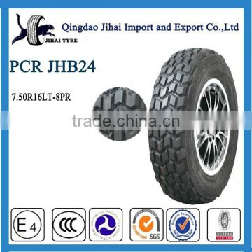 radial PCR tyre 7.50R16LT with china syre supplier