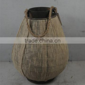 Chinese Candle Lantern With Linen