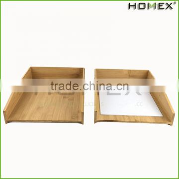 Bamboo office paper tray for a4 paper file Homex-BSCI