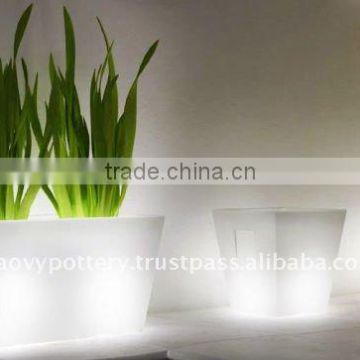 AAR Fiberglass lighting pot, fiberglass with light