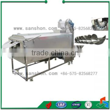 Continuous Onion Washer Industrial Potato Peeling Machine