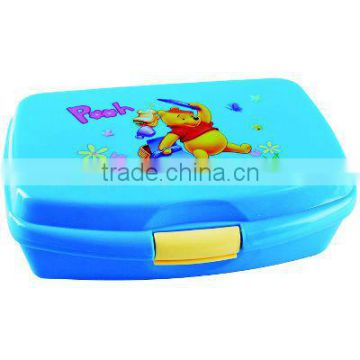 lovely colorful printing plastic lunch box with low price