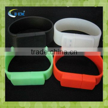 G-a leather Logo printing Silicon Bracelet USB