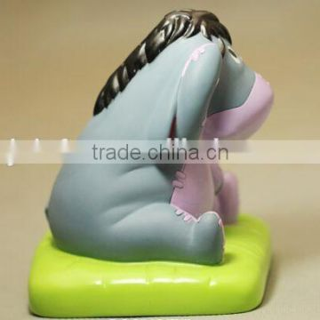 Pvc donkey figurine toy for children,2015 vinyl donkey shape custom toys,make custom vinyl donkey toy