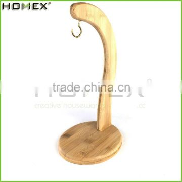 Round Base Bamboo Fruit Hanger/Simply Bamboo Banana Hanger/Homex_FSC/BSCI Factory
