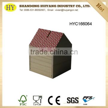 wholesale cheap small wooden coin box