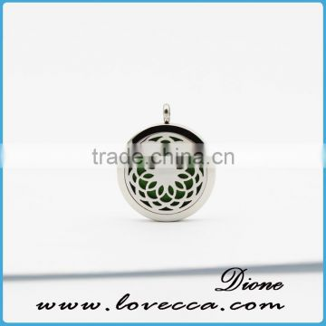 316L Stainless Steel Aromatherapy Essential Oils Diffuser Pendant Necklace Jewelry