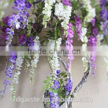 deluxe silk wisteria hanging vine fake flower ornament