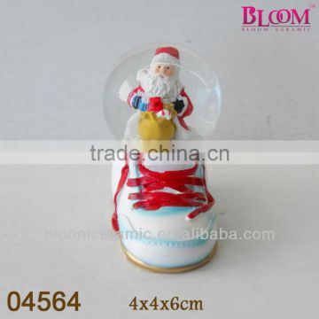 Bloom DIY design shoe shaped christmas snow globe