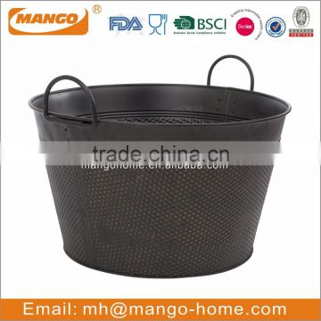 Bronze Oval Metal Beer Bucket