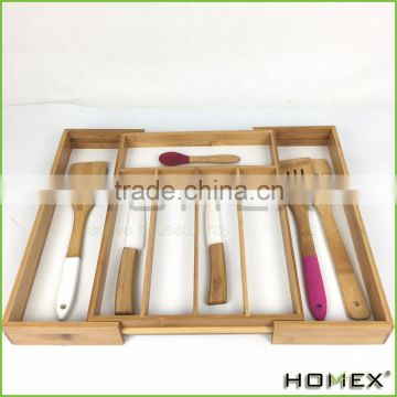 Bamboo Kitchen Drawer Organizer/Beautiful and Durable Bamboo/Homex_BSCI