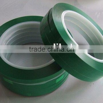 Silicone PET green tapes for paint masking use