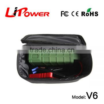 high capacity 12000mAh 12v lithium ion battery emergency power bank car jump starter with battery cable