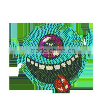 New Design One Eyed Moster Sequin Custom Hot Fix Transfer Wholesale