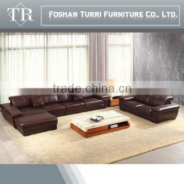 luxury furniture modern 100% top grain leather sofa set