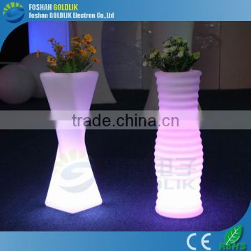 Garden Infrared Remote Decor RGB Light LED Outdoor Flower Pots