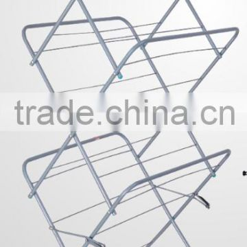 Hot sale high quality folding movable motorized clothes rack