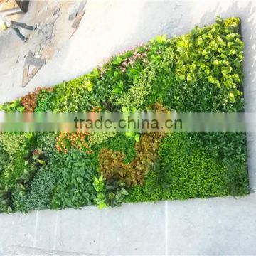 Home and outdoor decoration synthetic cheap artificial vertical green grass wall E08 04B15