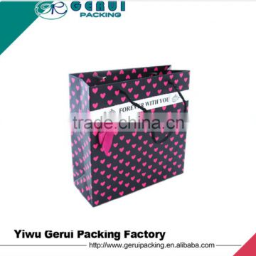 Recyclable Feature and paper Material fashion paper bag&custom paper gift bag