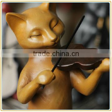Factory price resin cat figure living room decoration manufacturer